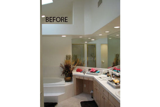 Scottsdale, AZ bathroom remodeling contractor. Upscale Master Bathroom remodel with before and after photos
