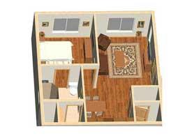 Gilbert AZ master suite home addition 3D computer rendering