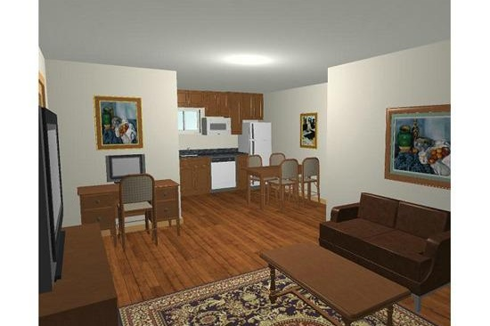 Phoenix, AZ Home Addition Contractor. With accessibility features for their mother-in-law. 3D computer renderings.