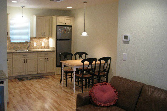 Gilbert, AZ home addition contractor. Home addition with a kitchenette and accessibility features.
