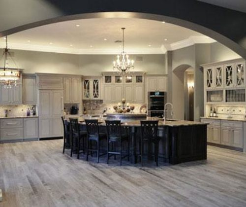 Elegant Gray Transitional Kitchen